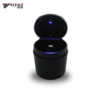 alloy box cover - New Car Ashtray LED Cigarette Lighter Power Plug With Belt Cover Cigarette Holder Store Box for Car