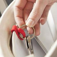 Wholesale mini key clip organizer clips finder hook hanger hang colorful for handbag purse tote bag inside