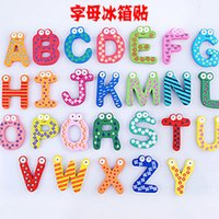large wooden letters - Fridge Magnet Child Colorful Letters shape Learning Wooden Magnetic Toddler Children Toys Words Study Alphabet