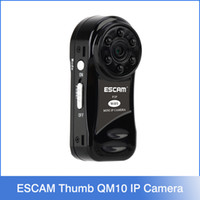 thumb camera - ESCAM Thumb QM10 Wifi Mini IP Camera HD P2P Onvif indoor Surveillance Night Vision Security CCTV Camera TF SD Card