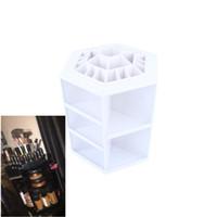 alps white - 1Pcs New Style degree Makeup Organizer Box Brush Holder Jewelry Organizer Case Makeup Cosmetic Storage Box