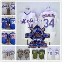 pinstripe baseball jerseys - Noah Syndergaard Jersey with World Series Patch New York Mets Jerseys Cool Base White Pinstripe Grey Camo Blue Orange