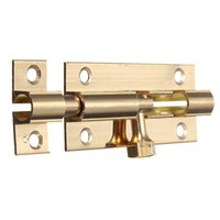 Wholesale High Quality Solid Brass Chrome Slide Bolt Bathroom Toilet Small Large Lock Catch Latch Gate Lock With Screw