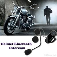 Wholesale Hot BT M Motorcycle Wireless Bluetooth Receiver Interphone Headsets Helmet Intercom Interphone Handsfree Headphone