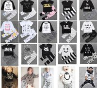 Wholesale 4 sets can mix styles Baby boy Girl Clothing suits Children Clothing Set Newborn Baby Clothes Cotton Baby sets