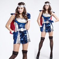american soldiers game - American Thor ThorGirl Halloween Sexy Super Heroes Adult Female The Avengers Cosplay Soldiers Game Uniforms Performance Clothes Costumes