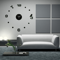 best lighting for home office - Best Promotion Brand New DIY Large Wall Clock Home Office Room Decor D Mirror Surface Sticker Fit For Home Decoration