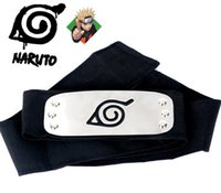 Wholesale Naruto forehead naruto ninja headband with red blue and black color you can choose