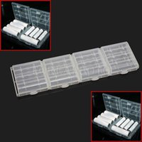 Wholesale New Durable White Hard Plastic Case Holder Storage Box For AA AAA Battery