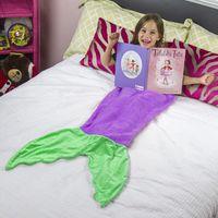 baby cotton cocoon - New Shark Mermaid Tail Sleeping Bag For Baby Boys Girls Cute Animals Cocoon Fleece Blanket Mattress Sofa Nursery Bedding Fit T
