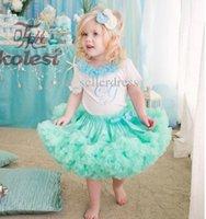 Wholesale New Princess Skirt Birthday Girl Gift Lovly Bow Tutu Ruffle Cake Skirt Kids Children Suits Baby Clothes Dress