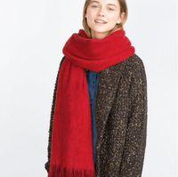 La nueva manera larga de la bufanda de invierno cálido chal bufanda de las mujeres unisex hembra manta sólido de la bufanda de Pashmina Studios mejor calidad de la borla de las mujeres Wraps