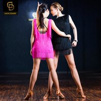 Wholesale new Latin dance sexy backless dress tassel fringe Latin dance costumes Latin Dance Latin dance exercise wear uniforms