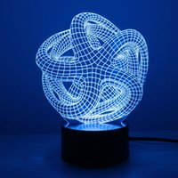 artistic table - Artistic Abstraction Modern D USB Night Light Colorful Color Changing LED Desk Table Light Lamp For Home Bedroom Decoration