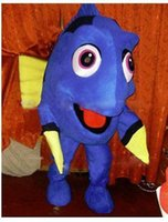 Wholesale Custom made finding Nemo Dory Fish Mascot Costumes blue fish dory character Costumes for Chirstmas Party Adult Size Fancy Dress factory