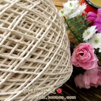 Wholesale handmade crochet hook flower bag hook DIY coasters insulation pad hollow braid full cotton Beige originally thick line