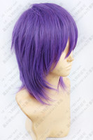 Wholesale Kuroko no Basuke Kuroko s Basketball Murasakibara Atsushi Short Purple mix Cosplay Wig free wig cap