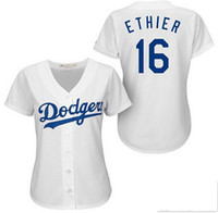 angeles dodgers logo - Los Angeles Dodgers Jersey Womens Baseball Jersey Clayton Kershaw Adrian Gonzalez jerseys Throwback Stittched Logo