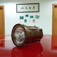Wholesale Updated Camping Lantern Solar Rechargeable LED Camp Light Handheld Flashlight in the Bottom for Hiking Fishing Hurricanes Outages