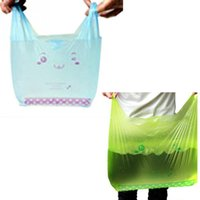 abs wine - 50pcs Supermarket Smile Face Pattern Plastic Bags Bear Smiling Shopping Bag x cm