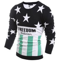 Wholesale Autumn and winter new arrival The new round collar design pentagram embroidered tide male sweater LB1600