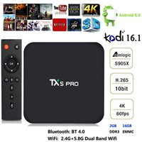 Wholesale TX5 Pro Android Marshmallow TV BOX Amlogic S905X K KODI G G AC WIFI LAN Media Player