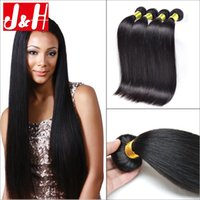 virgin brazilian hair - Straight Brazilian Hair Weave Virgin Human Hair Weave Bundles Peruvian Hair Malaysian Hair Extensions Grade A Hair Products