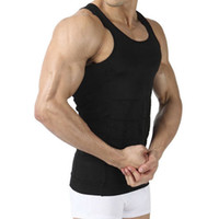 Wholesale Men s Body Shaper Slimming Shirt Tummy Waist Vest Lose Weight Shirt Men s Elastic Sculpting Vest Thermal Compression Base Layer Slim Compre