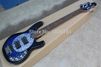 Wholesale Guitar High Quality Music Man SABRE Active Pickup Ernie Ball Sting Ray Blue String Bass Guitar
