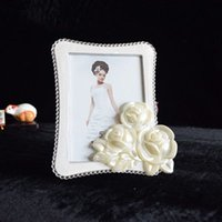 Wholesale 2016 New hot Lovely Photo Frames White Rectangle Bedroom Decor rose flower Birthday Creative Gift Picture Photo Frame PF