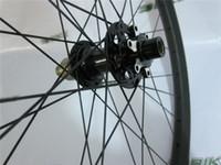 Wholesale 29erx27mm width carbon tubular wheelset mm depth front M15 thru rear mm X12 SUPER LIGHT MTB XC inches carbon wheels