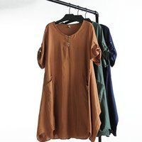 clothes for fat women - C1 large size Casual Dresses for women fat girl summer new fashion folk irregular hem lantern women clothing plus size xl xl color