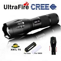 Wholesale Free DHL G700 E17 CREE XML T6 High Power LED Torches Zoomable Tactical LED Flashlights torch light for AAA or x18650 battery New