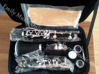 Wholesale Bb Key ABS Clarinet Silver plated with Foambody case EMS OEM is acceptable
