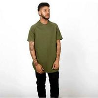 america west - 2016 drake ovo TYGA TShirt Men histree west kanye fashion brand in Europe and America stitching side zipper short sleeved T shirt hiphop tee