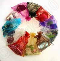 Wholesale JJA53 cm Drawstring Organza Bags Wedding Party Favor Gift Candy Sheer Wrapping Bag Jewelry Pouches