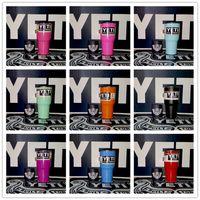 Wholesale 30 oz YETI Rambler Tumbler Cup Colors yeti cooler Travel Vehicle Tumblerful Bilayer Vacuum Insulated In Stock