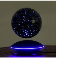 Wholesale dhl free High qualitychristmas gift magnetic levitation light inch globe with wireless induction