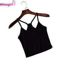 batik vest - Sexy Women s Strap Tanks Crop Tops Colors Sleeveless Short Y Camisole Halter Top Summer Style White Black Camis Vest