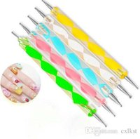 Wholesale Nail Art Paint set Way Marbleizing Dotting Manicure Tools Painting Pen Good Quality Brand New