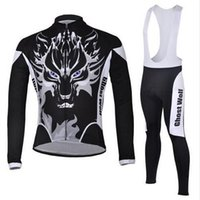 Wholesale 2016 New Ghost Wolf Autumn None Fleece Cycling Ropa Ciclismo Invierno Cycling jerseysSuper Warm Bicycle Clothing Long GEL Pad Pants