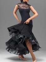 Wholesale Ballroom Dancing Dress Promotion Sale Modal Ballroom Dance Skirts Led Costume New Professional Dress Women