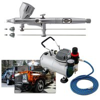 Wholesale Precision Detail AB S Airbrush Kits with Air Compressor TC T Air Hose