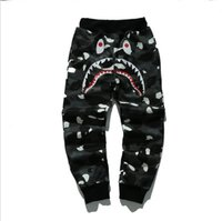 animals mouth - 2016 autumn new tide brand BAP shark mouth luminous stars male and female couple thin casual pants Wei pants pants feet