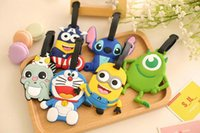 Wholesale Silicone Luggage Tag Many kinds of Luggage Tag Monster minions man captain America etc cartoon bag parts