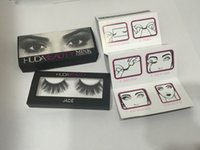 Wholesale IN STOCK New HUDA BEAUTY False Eyelashes Natural Long Messy Cross Thick False Eye Lashes Huda Beauty Makeup DHL Free