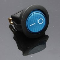 Wholesale Blue Neon pin mm terminals V A Universal LED illuminated Car button lights ON OFF Round Rocker Switch Dash Boat Van