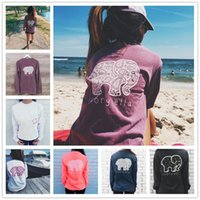 bamboo clothes - Dindim Brand New Summer Ivory Ella T shirt Womens Clothing Tee Print Animal Elephant T Shirt Loose Long Sleeve Harajuku Tops For Women