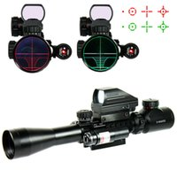Wholesale 3 X40EG Tactical Hunting Riflescope Airsoft Scope with Holographic Dot Sight Red Laser