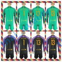 barcelona uniform - Soccer Jersey Barcelona TER STEGEN BRAVO Cillesse Goalkeeper Long Sleeve Uniforms Kit Black Light Green Jersey